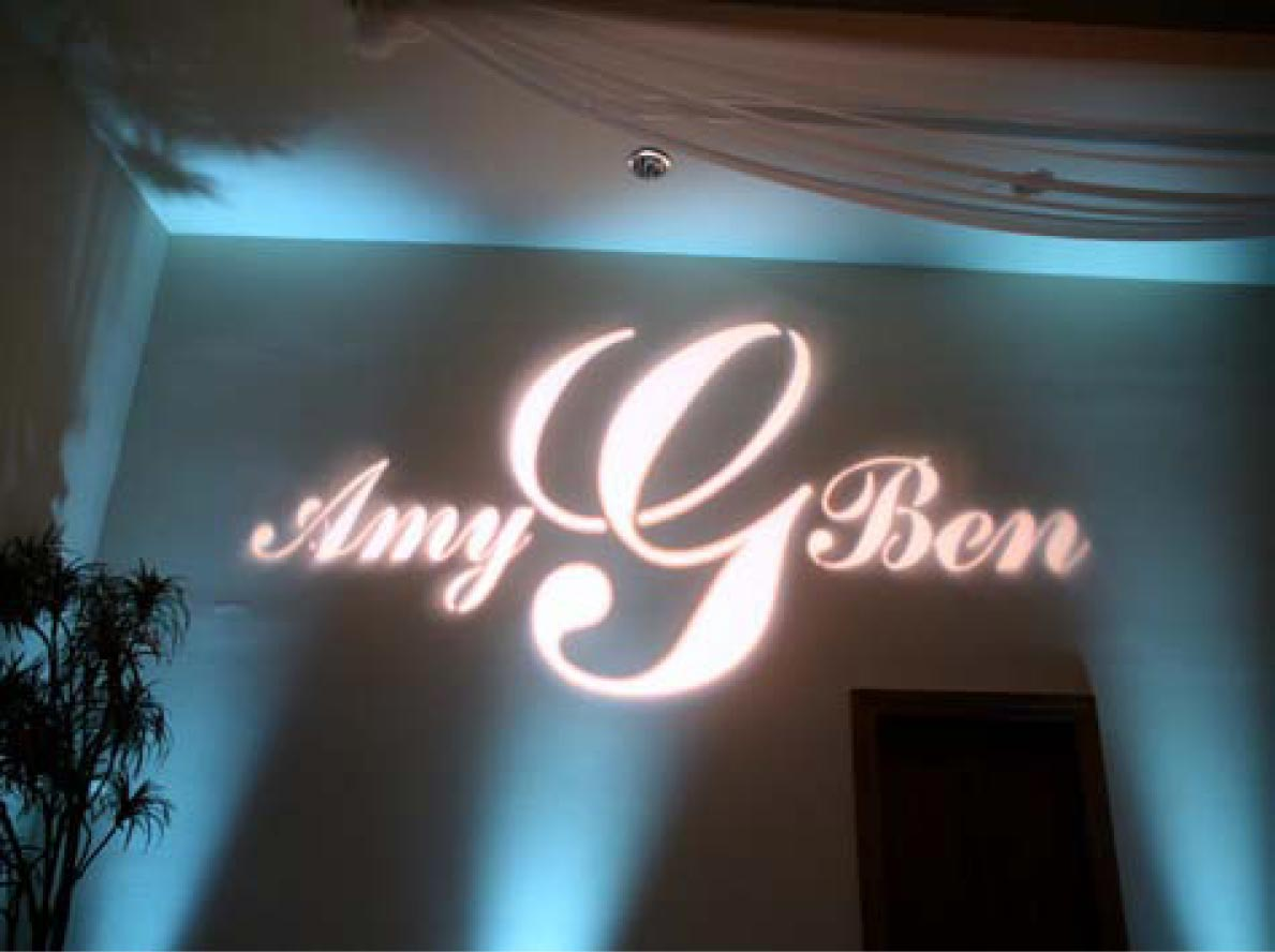 Customised Gobo Projection example1