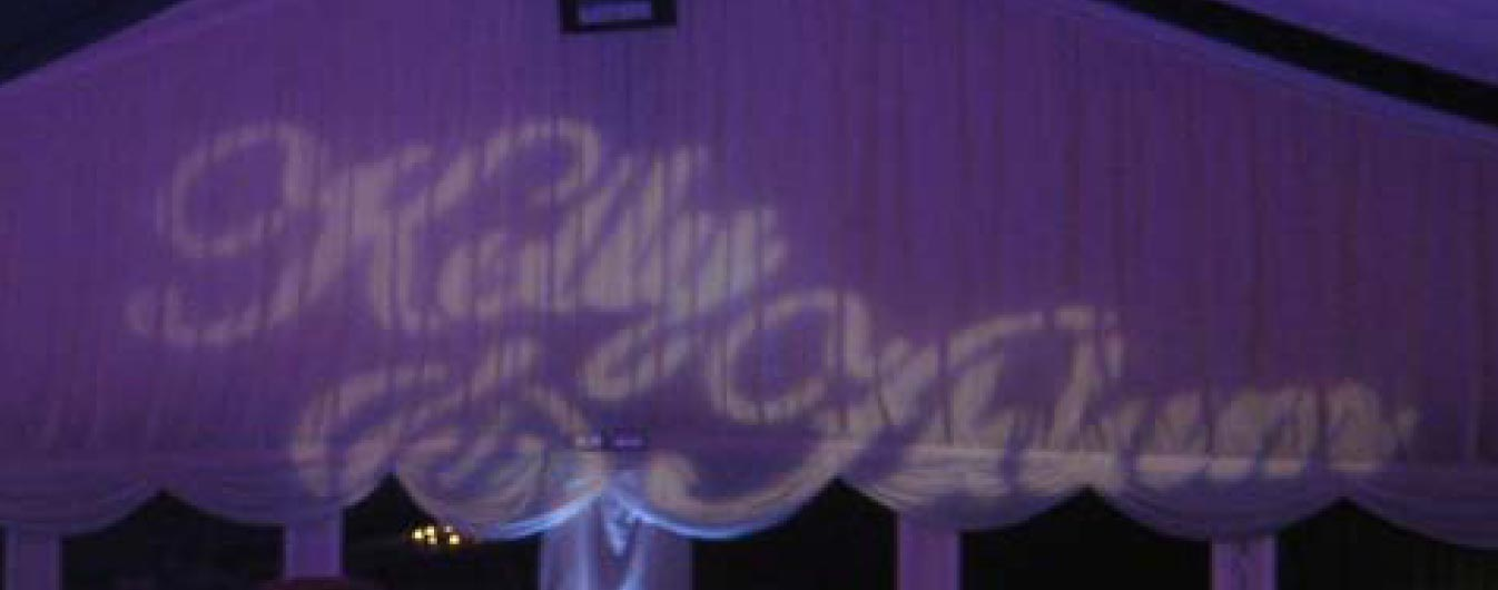 Customised Gobo Projection example3